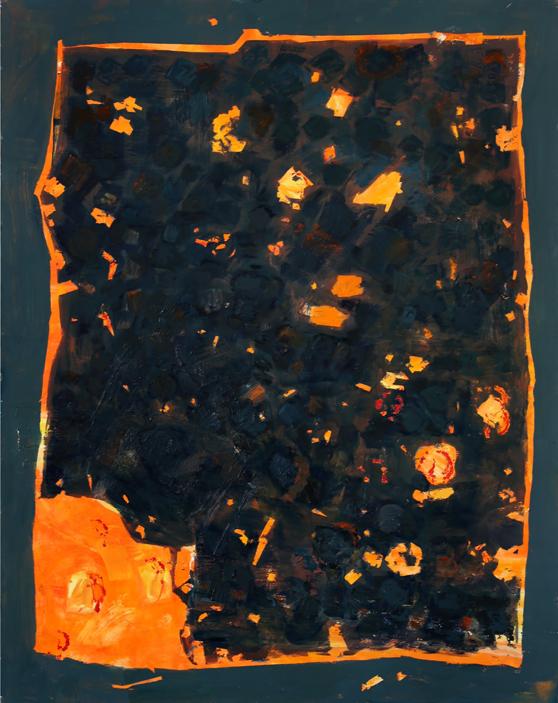 Marta Kawecka Magma, 190x150cm, olej na płótnie, 2014