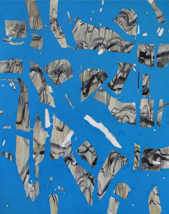 Marta Kawecka Fragmenty, 190x150cm, olej na płótnie, 2014