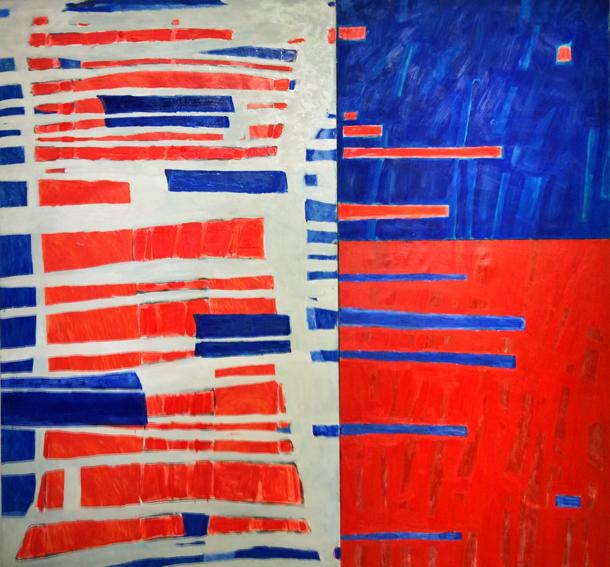 Marta Kawecka Relacje, 210x225cm, olej na płótnie, 2015