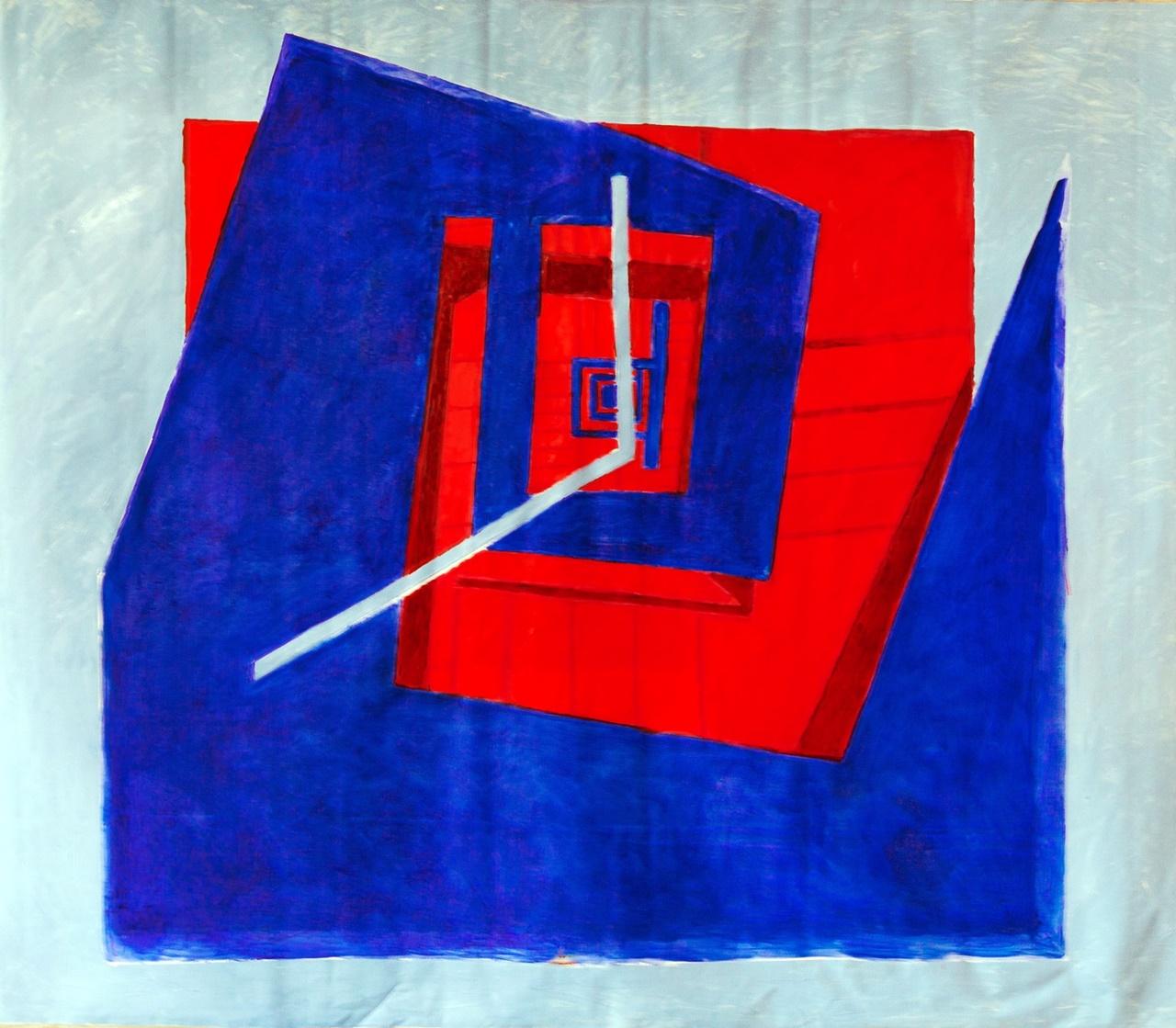 Marta Kawecka_Escape room_160x190cm_olej na płotnie_2019