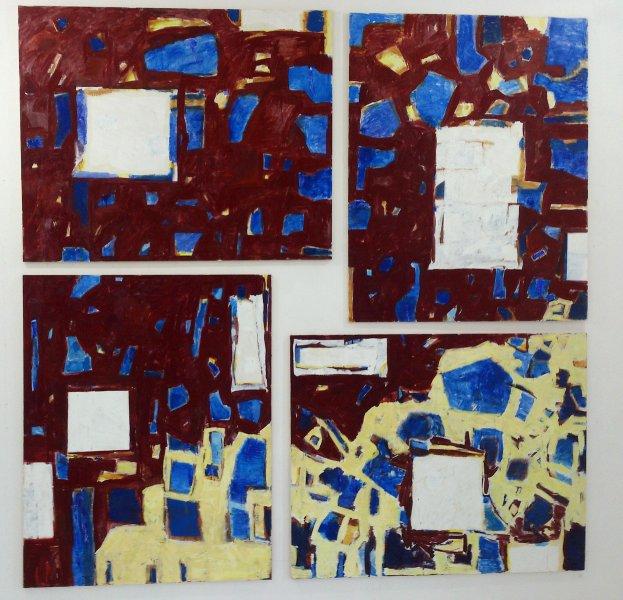 Marta Kawecka (od)tworzone 1, 270x270cm, olej na płótnie, 2015