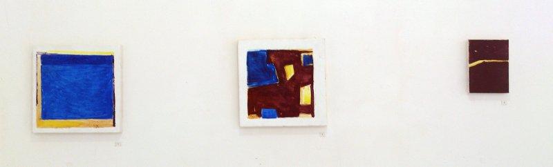 Marta Kawecka (od)tworzone 2/3/4, 30x30cm/30x30cm/18x13cm,olej na płótnie, 2015