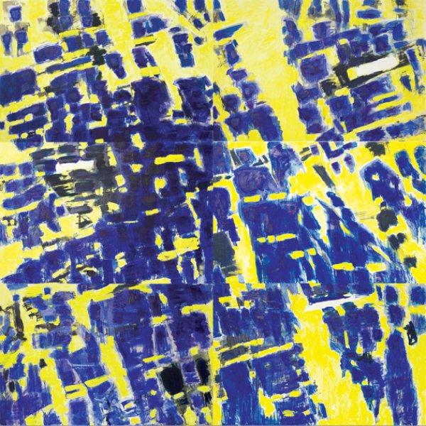 marta kawecka fragmenty 4_240x240cm_olej na płótnie_2014